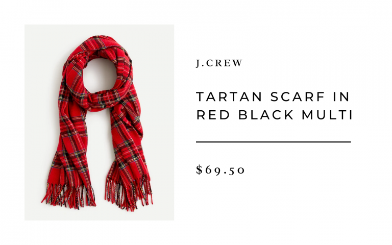Tartan Scarf in Red Black Multi