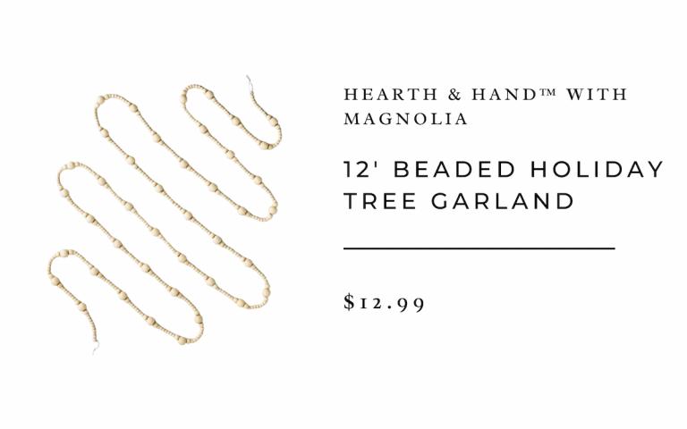 Hearth & Hand™ with Magnolia 12' Beaded Holiday Tree Garland