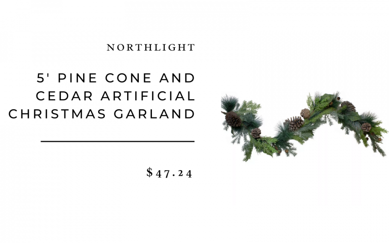 5' Pine Cone and Cedar Artificial Christmas Garland