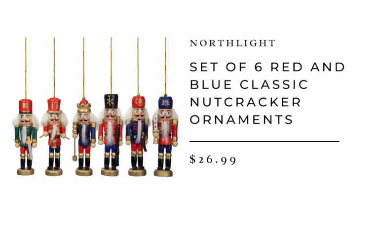 Northlight Set of 6 Red and Blue Classic Nutcracker