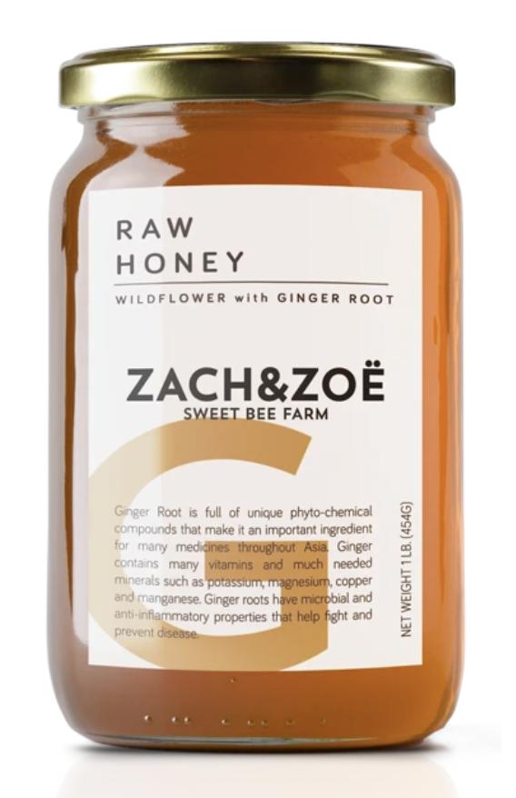 Zach & Zoe Wildflower Honey with Ginger Root