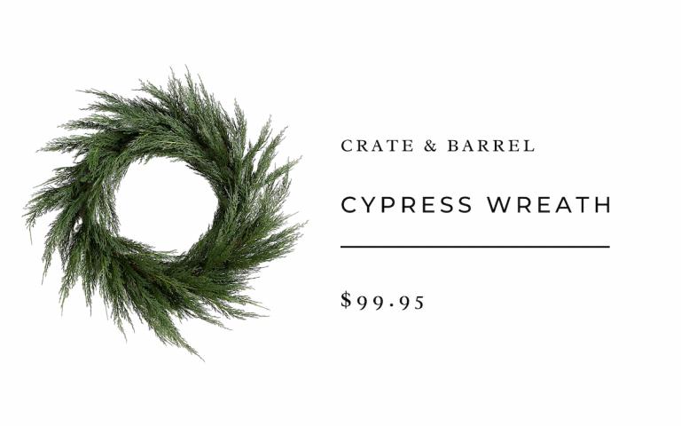 Crate & Barrel Cypress Wreath