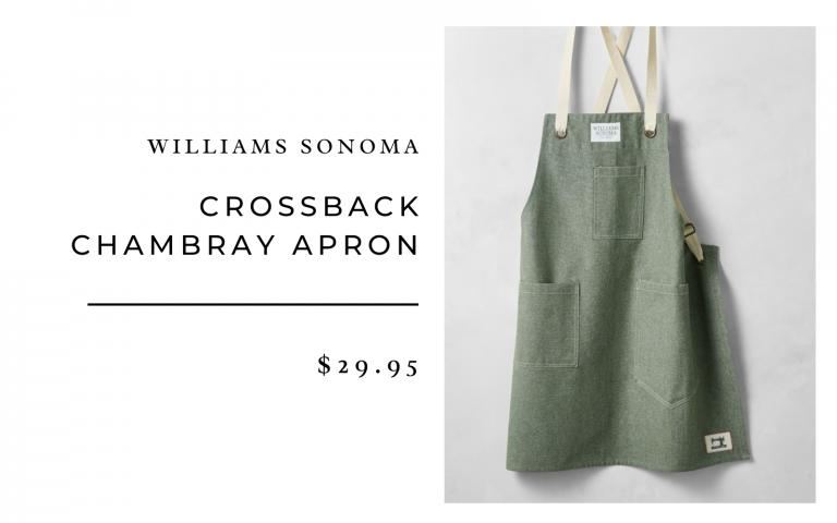 Williams Sonoma Crossback Chambray Apron