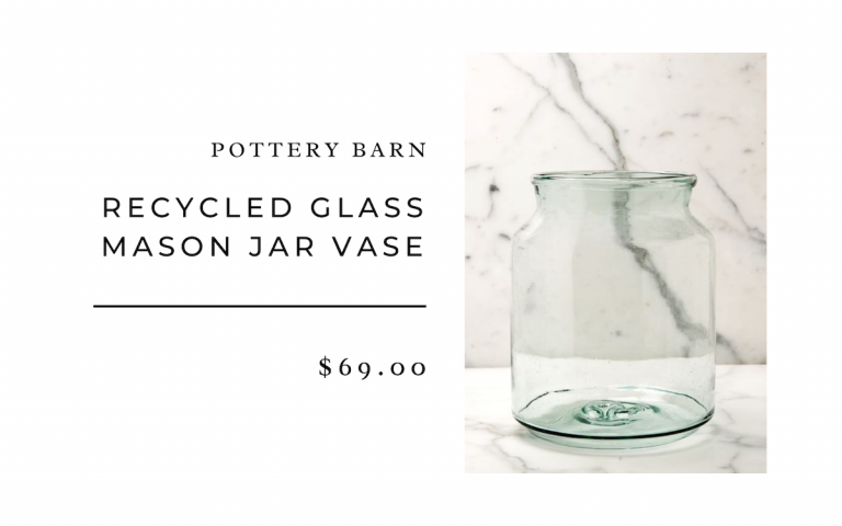 Pottery Barn Recycled Glass Mason Jar Vases
