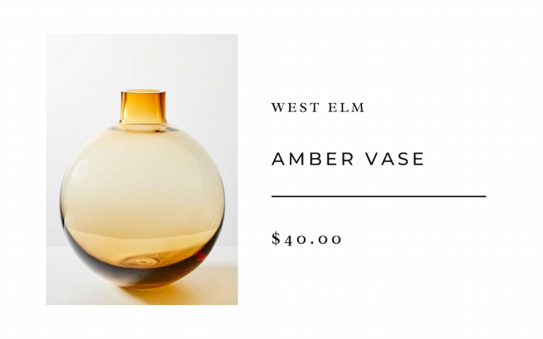 West Elm Amber Vase