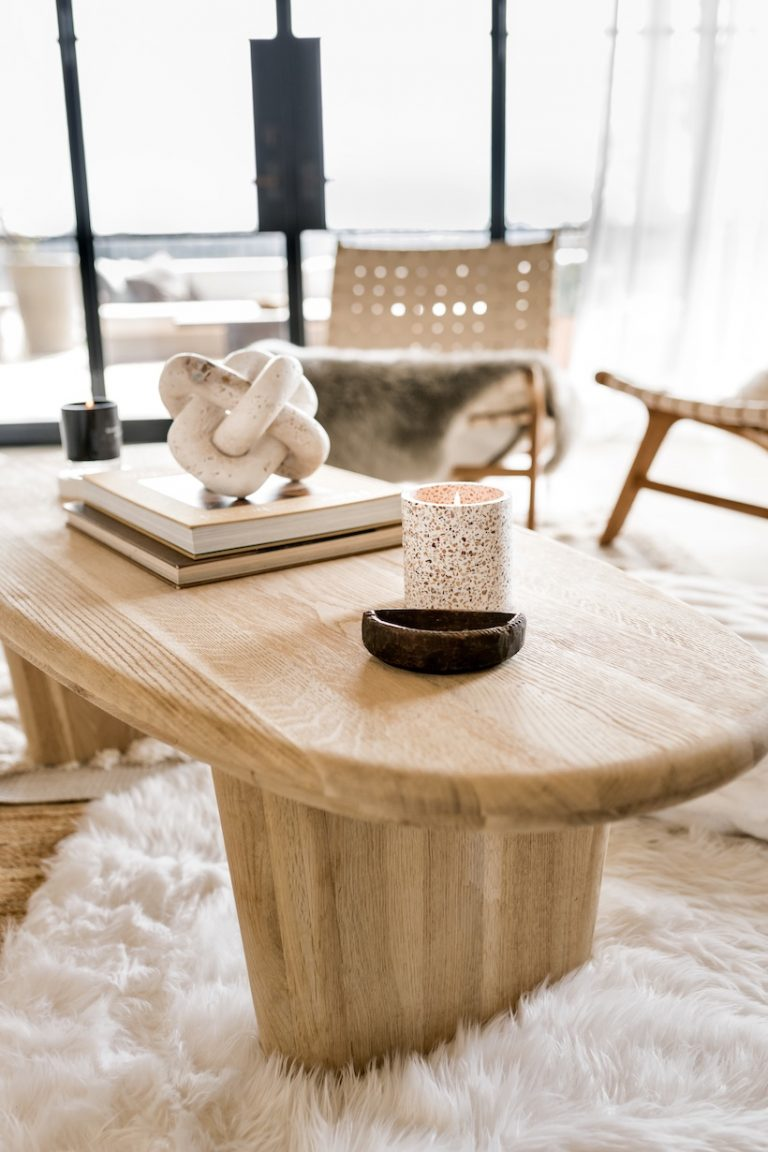 light wood coffee table styling ideas neutral living room