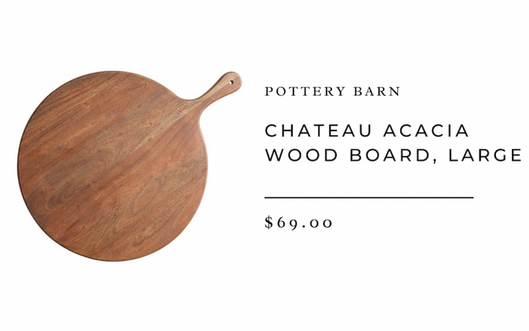 Pottery Barn Chateau Acacia Wood Board, Large