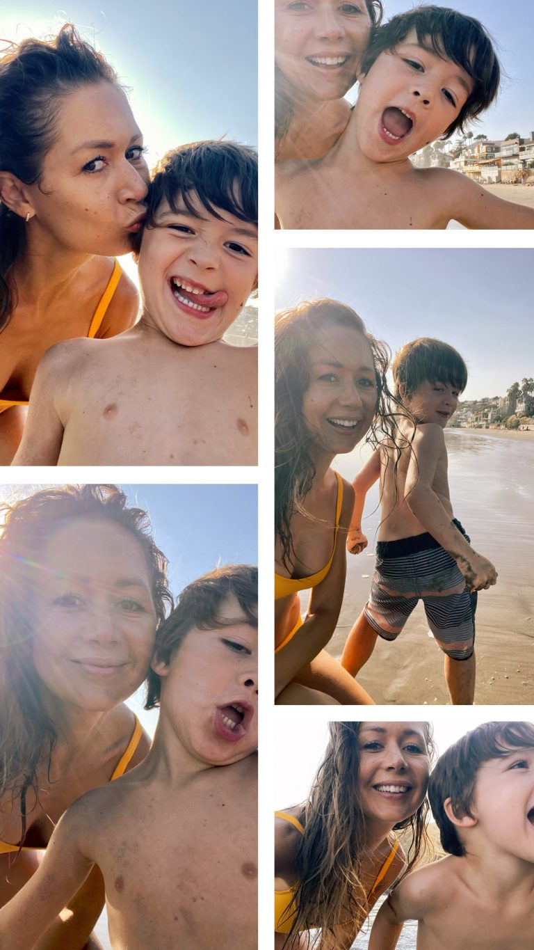 camille and henry, beach in malibu