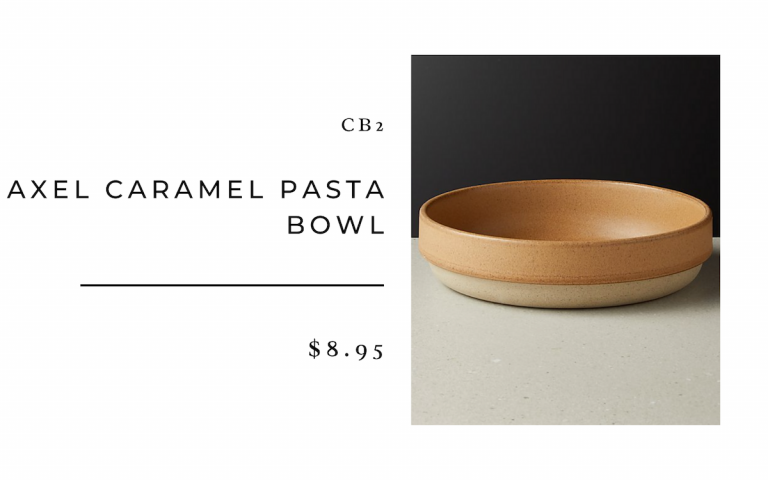 CB2 Axel Caramel Pasta Bowl