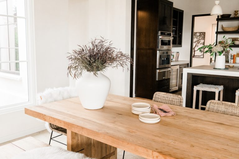 camille styles rustic wood dining table