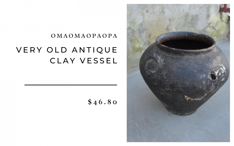 OmaOmaOpaOpa Very Old Antique Clay Vessel