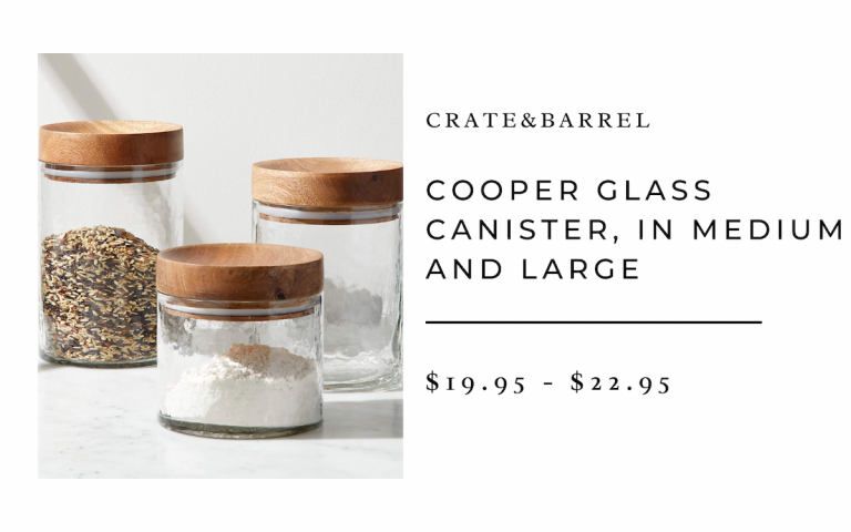 Crate&Barrel Cooper Glass Canister (Medium and Large)