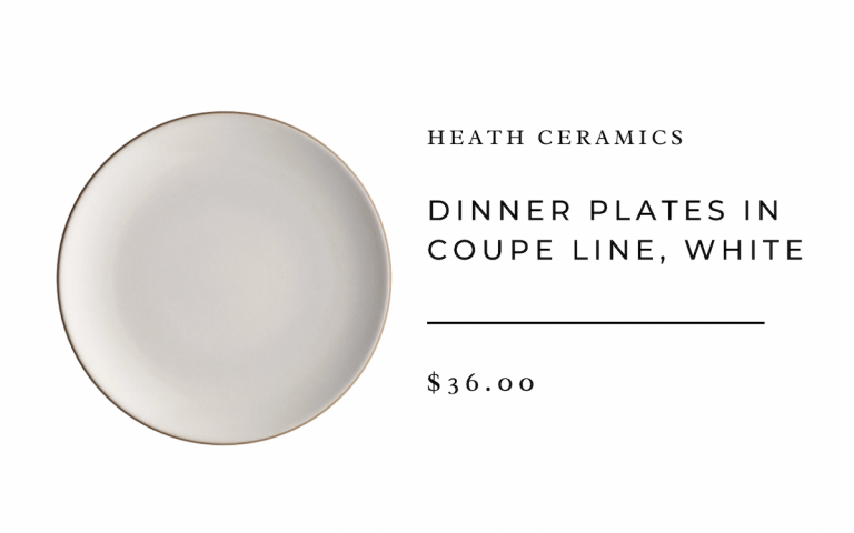Heath Ceramics Dinner Plates in Coupe Line, White