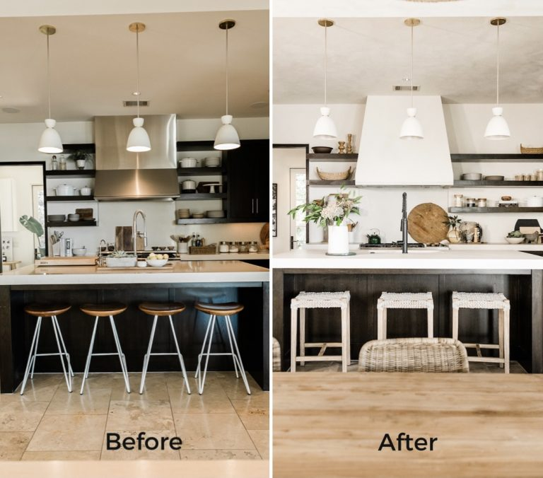 Camille's Kitchen Before and After