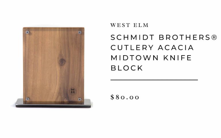 Schmidt Brothers® Cutlery Acacia Midtown Knife Block