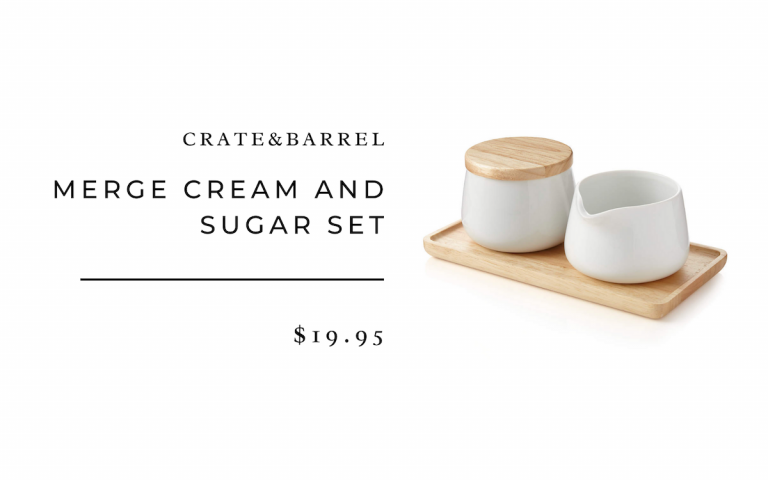 Crate&Barrel Merge Cream and Sugar Set