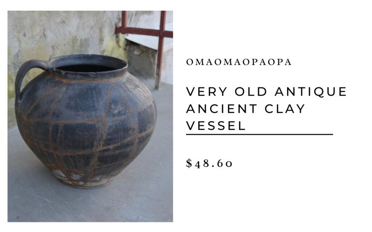 OmaOmaOpaOpa Very Old Antique Ancient Clay Vessel