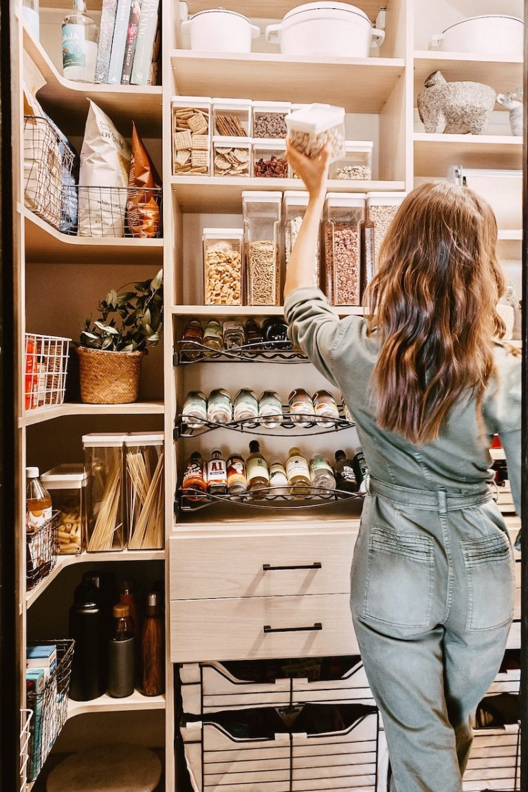 Camille Styles organized pantry - California Closets