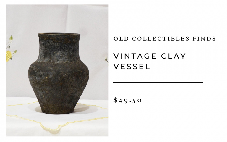 Old Collectibles Finds Vintage Clay Vessel