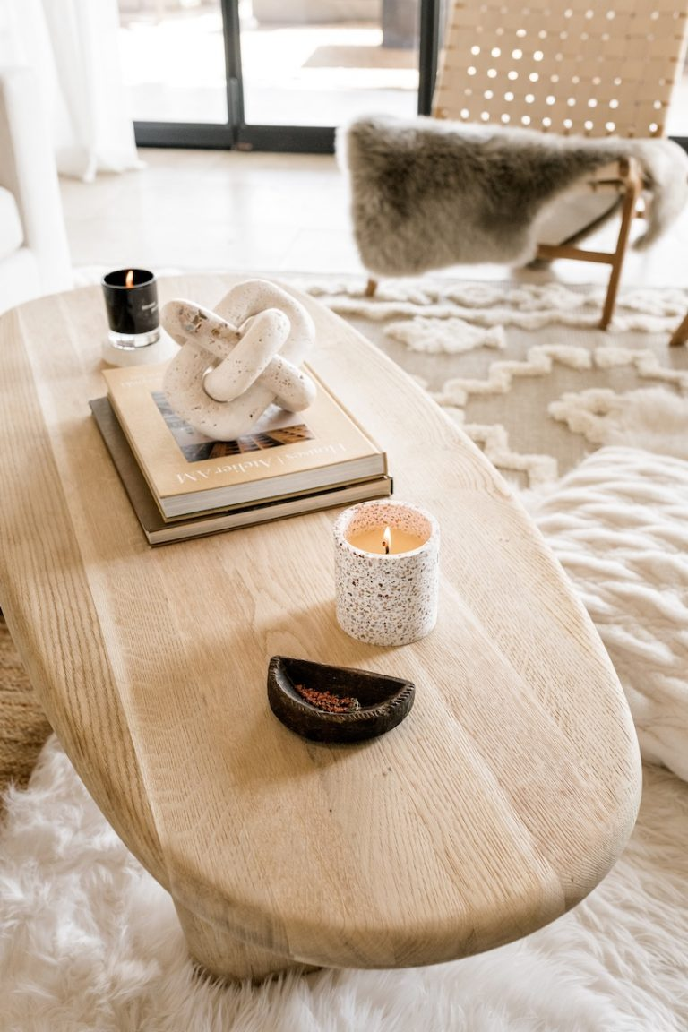 coffee table styling ideas neutral