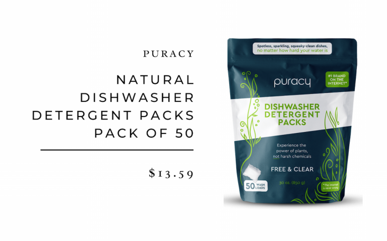 Puracy Natural Dishwasher Detergent Packs Pack of 50