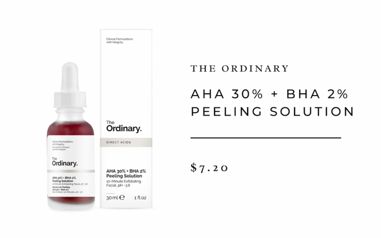 he Ordinary AHA 30% + BHA 2% Peeling Solution