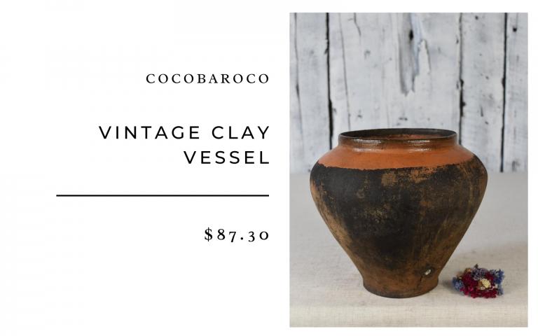 Cocobaroco Vintage Clay Vessel