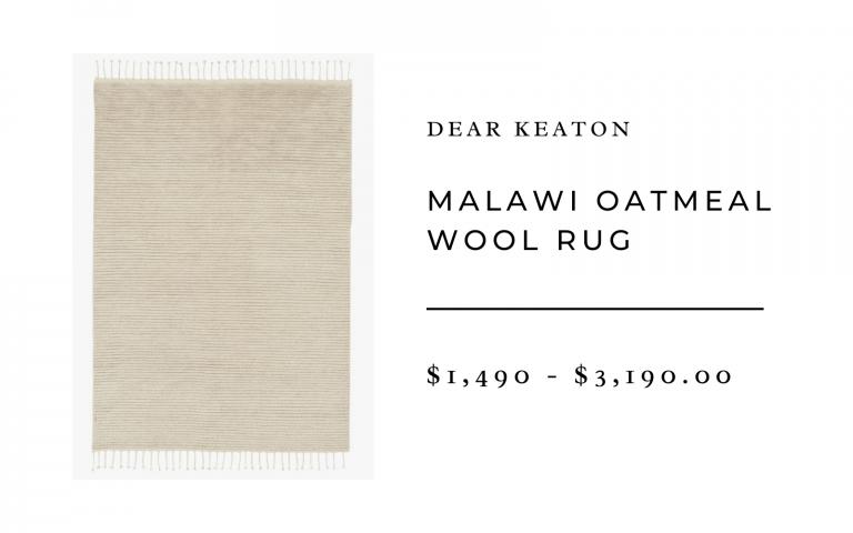 Dear Keaton Malawi Oatmeal Wool Rug