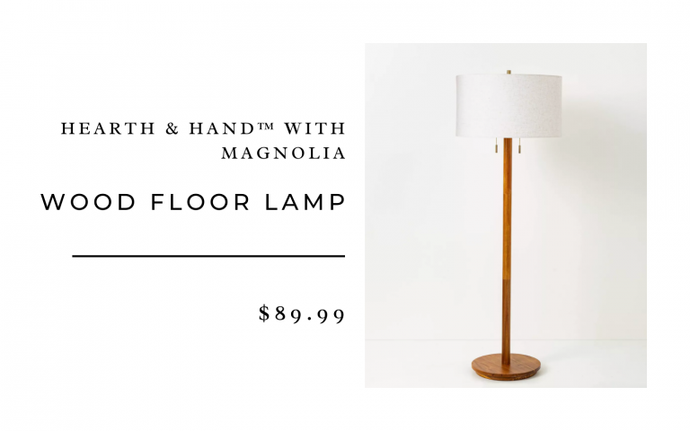 Wood Floor Lamp - Hearth & Hand™ with Magnolia