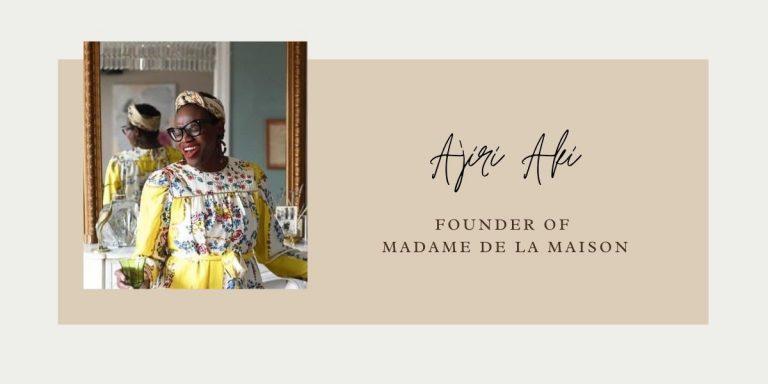 Ajiri Aki-Paris-Madame de la Maison