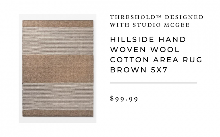 Hillside Hand Woven Wool Cotton Area Rug Brown - Threshold™ designed with Studio McGee 5x7