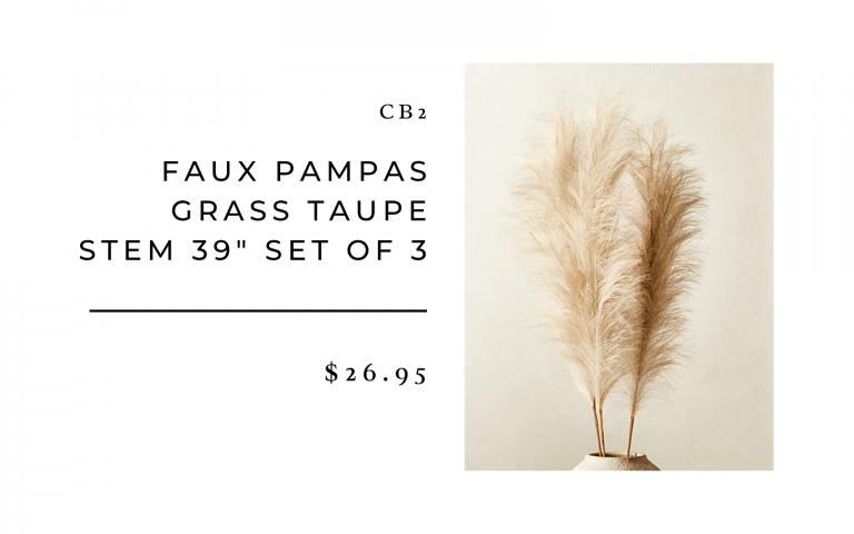 CB2 Faux Pampas Grass
