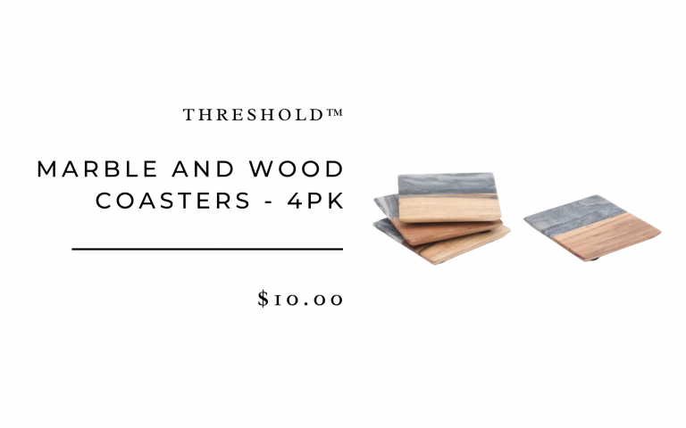 Marble and Wood Coasters - 4pk - Threshold™