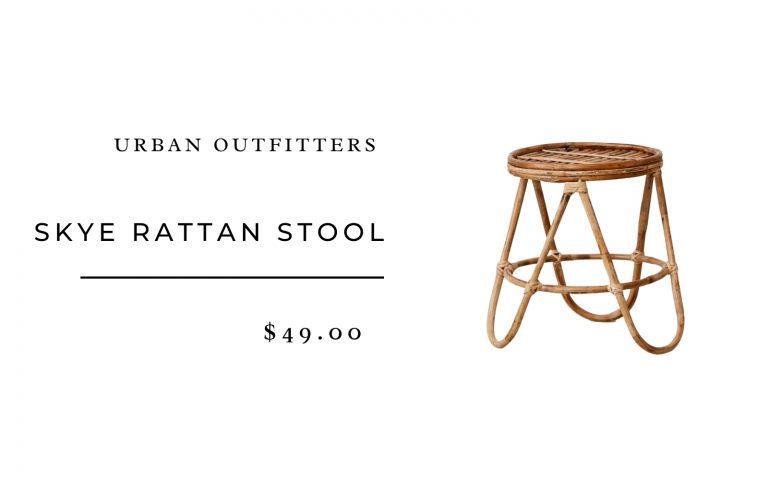 Urban Outfitters Skye Rattan Stool
