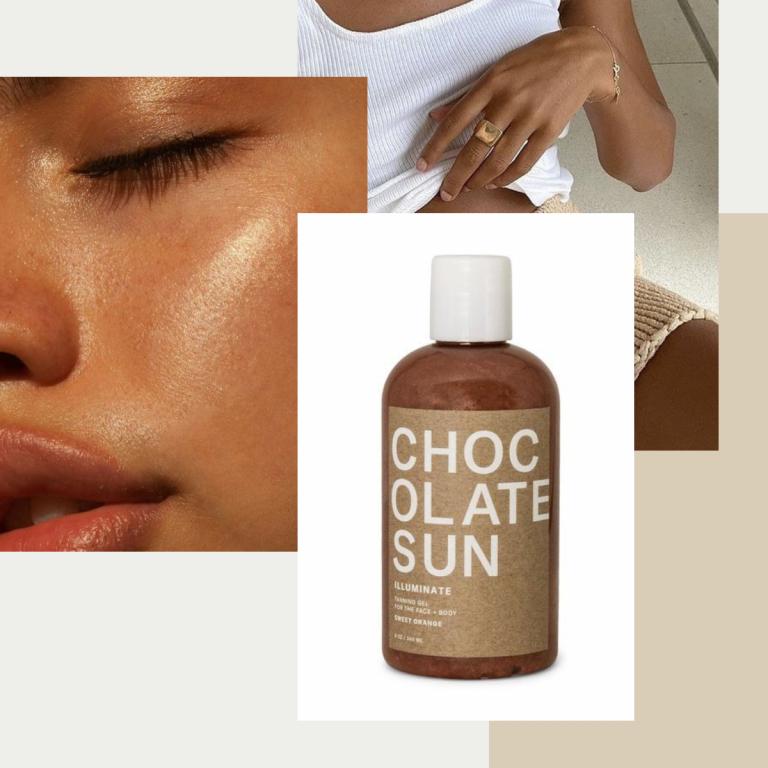 clean chocolate sun face tanner, nontoxic
