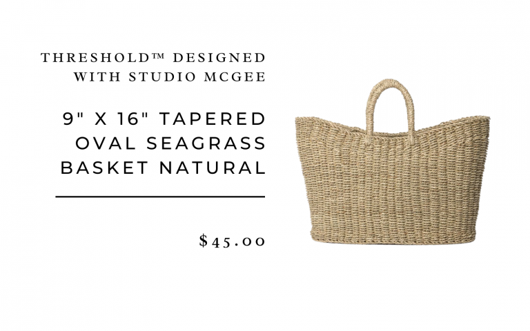 "9"" x 16"" Tapered Oval Seagrass Basket Natural - Threshold™ designed with Studio McGee"