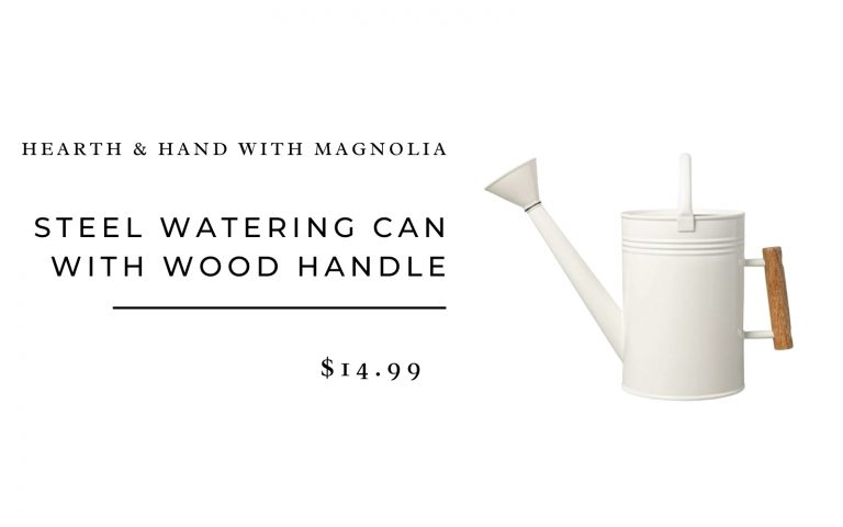 Hearth & Hand with Magnolia Steel Watering Can with Wood Handle