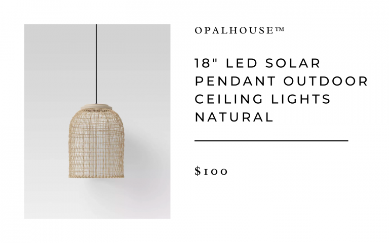 "18"" LED Solar Pendant Outdoor Ceiling Lights Natural - Opalhouse™"