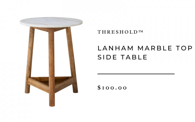 Lanham Marble Top Side Table - Threshold™