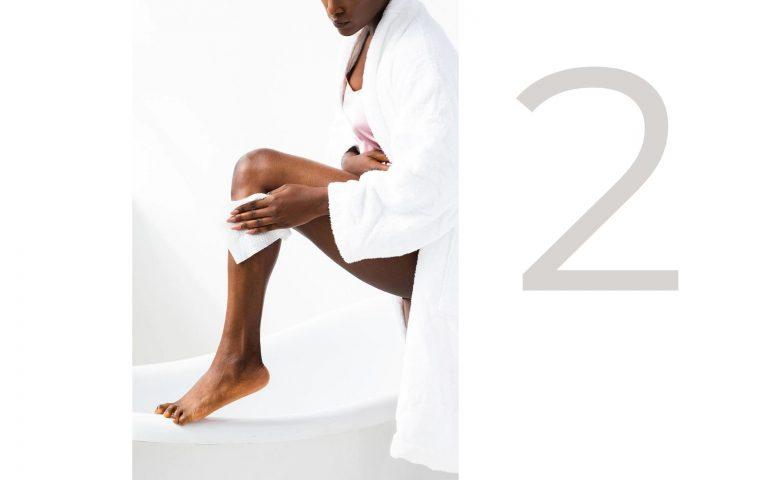 exfoliating body peel pad with glycolic acid-skincare