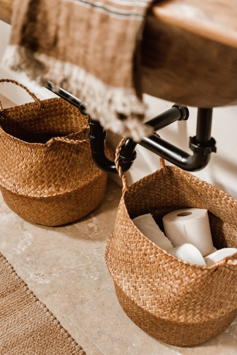 Baskets for holding toilet paper