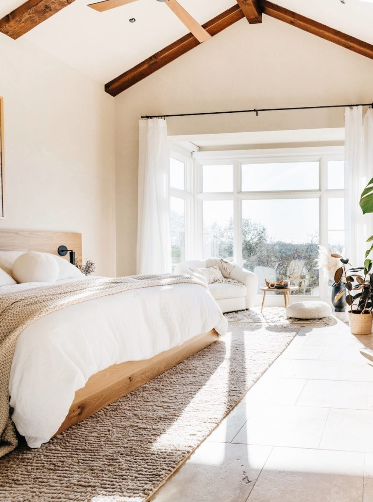 Camille Styles cozy neutral bedroom makeover in Austin