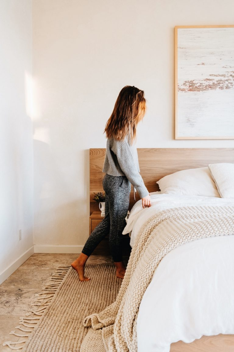 Camille Styles custom wooden bed