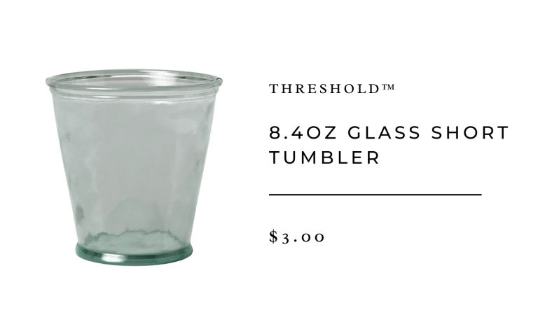 8.4oz Glass Short Tumbler - Threshold™