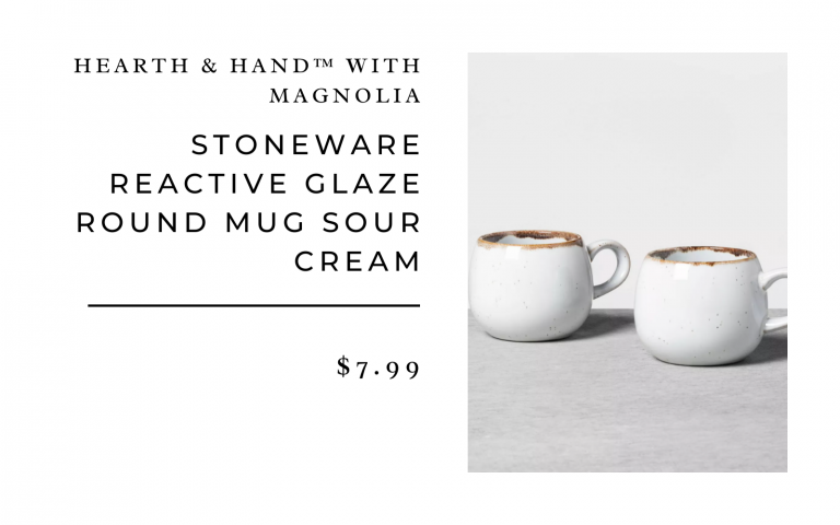 Stoneware Reactive Glaze Round Mug Sour Cream - Hearth & Hand™ with Magnolia