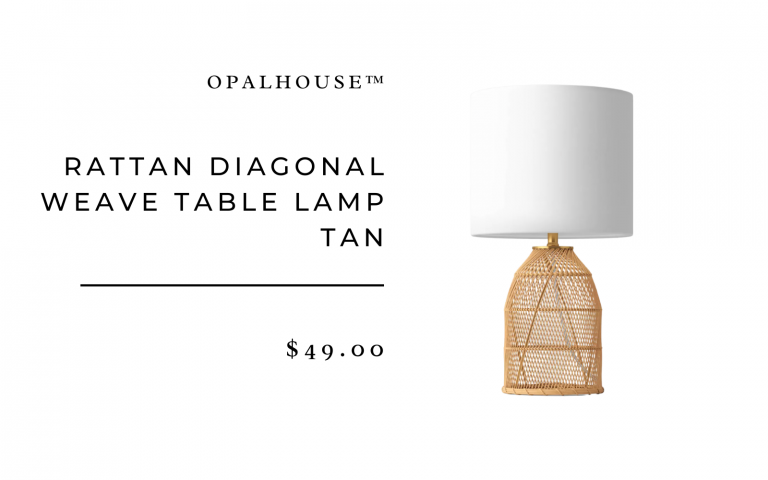 Rattan Diagonal Weave Table Lamp Tan - Opalhouse™