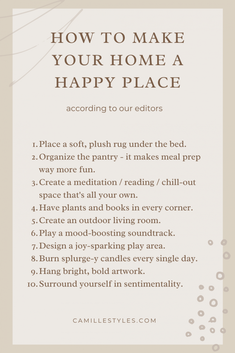 Pinterest - How to Make Your Home a Happy Place
