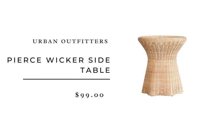 Urban Outfitters Pierce Wicker Side Table