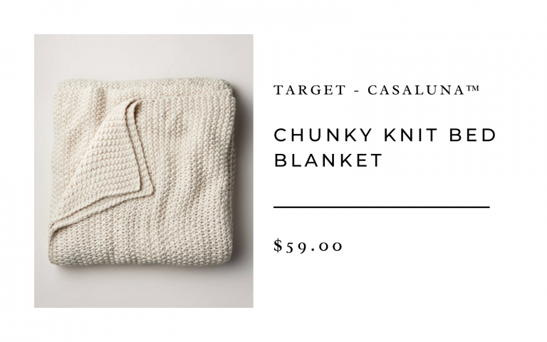 Target Chunky Knit Bed Blanket
