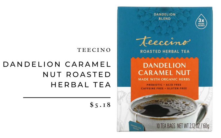 Teeccino Dandelion Caramel Nut Roasted Herbal Tea